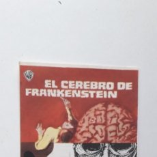 Cine: EL CEREBRO DE FRANKENSTEIN - PROGRAMA SENCILLO SIN PUBLICIDAD. Lote 160369782