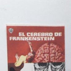 Cine: EL CEREBRO DE FRANKENSTEIN - PROGRAMA SENCILLO SIN PUBLICIDAD. Lote 160369930