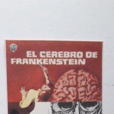 Cine: EL CEREBRO DE FRANKENSTEIN - PROGRAMA SENCILLO SIN PUBLICIDAD. Lote 160369962