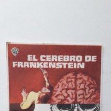 Cine: EL CEREBRO DE FRANKENSTEIN - PROGRAMA SENCILLO SIN PUBLICIDAD. Lote 160369998
