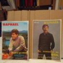 Cine: 2 FOLLETOS DE MANO DE RAPHAEL : AL PONERSE EL SOL (1967) Y DIGAN LO QUE DIGAN (1968) . Lote 160389894