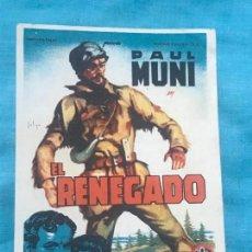 Cine: EL RENEGADO. SOLIGÓ. SENCILLO DE 20TH CENTURY FOX.CON CINE. Lote 160390622
