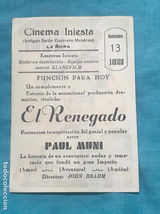 Cine: El Renegado. Soligó. Sencillo de 20Th Century Fox.CON CINE - Foto 2 - 160390622