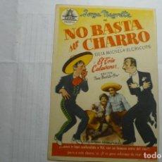 Cine: PROGRAMA NO BASTA SER CHARRO -JORGE NEGRETE. Lote 160450646