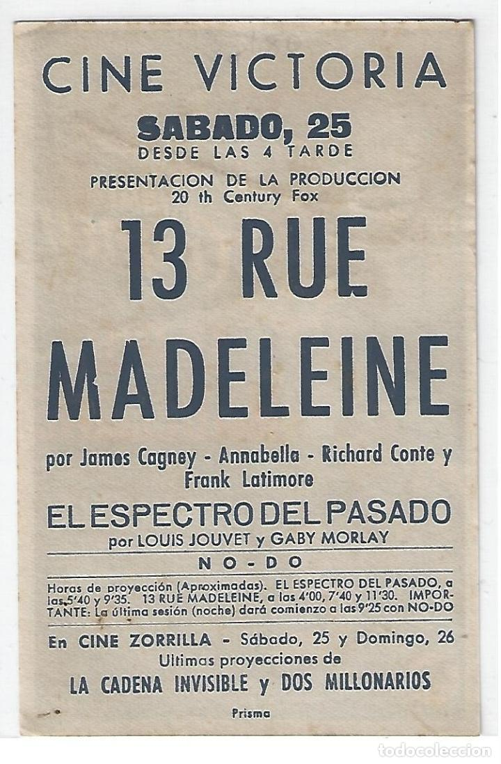 Cine: 13 Rue Madeleine - Programa de cine Badalona C/P - Foto 2 - 160462586