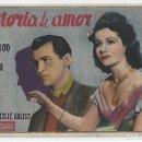 Cine: HISTORIA DE AMOR - PROGRAMA DE CINE BADALONA C/P. Lote 160470842