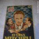 Cine: PROGRAMA DE MANO DE LA PELICULA EL GRAN MITCHELL. Lote 160494602