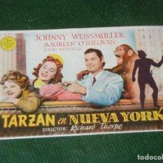 Cine: TARZAN EN NUEVA YORK - CINE TETUAN BARCELONA 1947. Lote 160526762