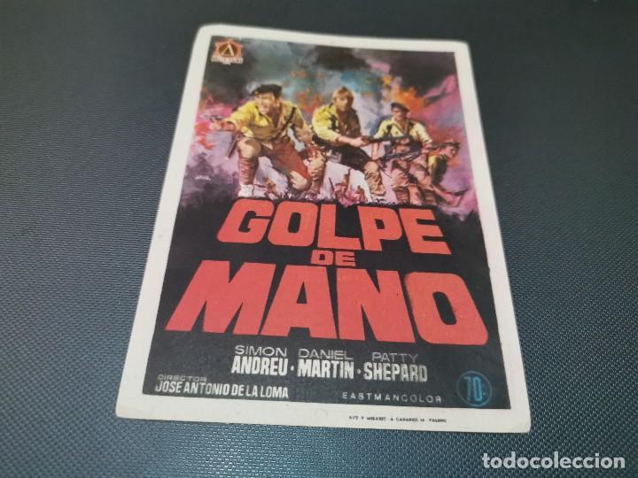 PROGRAMA DE MANO ORIG - GOLPE DE MANO - SIN CINE (Cine - Folletos de Mano - Acción)
