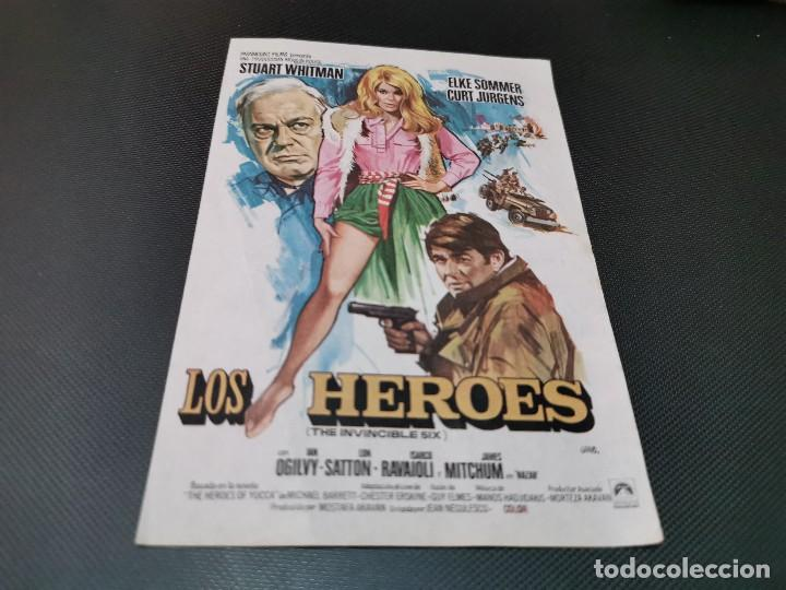 PROGRAMA DE MANO ORIG - LOS HEROES - SIN CINE (Cine - Folletos de Mano - Acción)