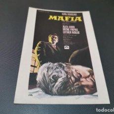 Cine: PROGRAMA DE MANO ORIG - MAFIA - SIN CINE . Lote 160545942