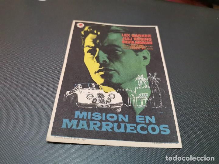 PROGRAMA DE MANO ORIG - MISION EN MARRUECOS - SIN CINE (Cine - Folletos de Mano - Acción)