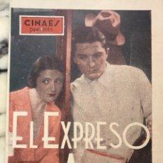 Cine: EL EXPRESO DEL AMOR. PROGRAMA CINE DIPTICO. ROGER TREVILLE. JANINE GUISE. Lote 160555522