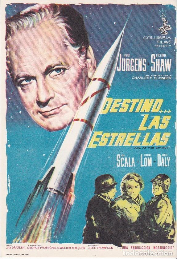 DESTINO LAS ESTRELLAS - SIN PUBLICIDAD (Cine - Folletos de Mano - Acción)