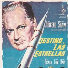 Cine: DESTINO LAS ESTRELLAS - SIN PUBLICIDAD. Lote 160602634