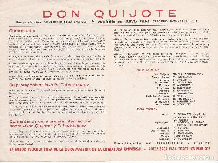 Cine: DON QUIJOTE - DOBLE - - Foto 2 - 160603566