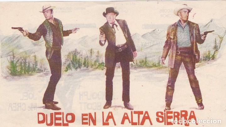 DUELO EN LA ALTA SIERRA - DOBLE - SIN PUBLICIDAD (Cinema - Flyers and Ads - Action)