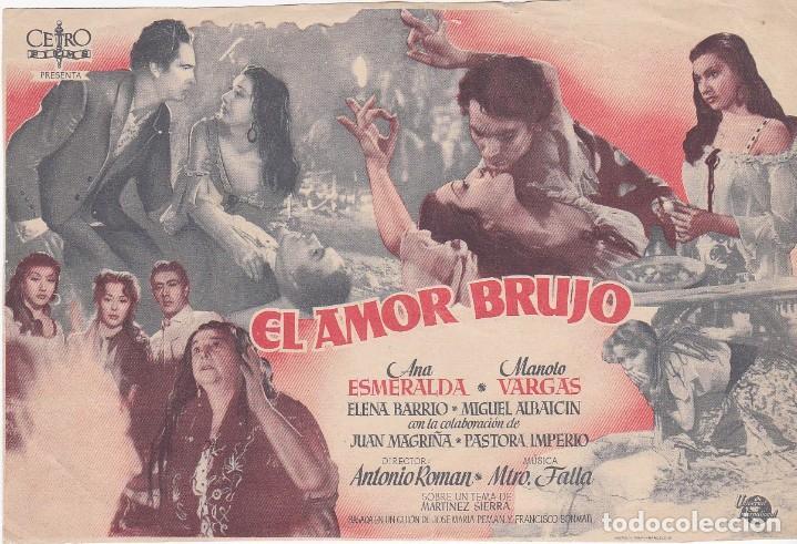 EL AMOR BRUJO - MUY GRANDE - SIN PUBLICIDAD (Cine - Folletos de Mano - Acción)