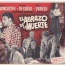 Cine: EL ABRAZO DE LA MUERTE - MUY GRANDE - SIN PUBLICIDAD. Lote 160605330