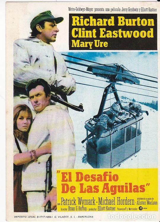 EL DESAFÍO DE LAS ÁGUILAS - VARIOS CINES (Cine - Folletos de Mano - Acción)