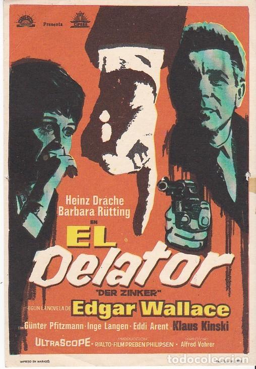 EL DELATOR - SIN PUBLICIDAD (Cine - Folletos de Mano - Suspense)