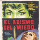 Cine: EL ABISMO DEL MIEDO - SIN PUBLICIDAD. Lote 160608534