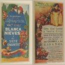 Cine: PROGRAMA DE CINE BLANCA NIEVES Y LOS SIETE ENANITOS PUBLICIDAD TEATRO CIRCO 1942 ORIGINAL. Lote 160629158