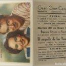 Cine: PROGRAMA DE CINE EL ORGULLO DE LOS YANQUIS PUBLICIDAD GRAN CINE CENTRAL 1945 ORIGINAL. Lote 160651590