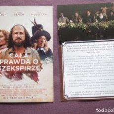 Flyers Publicitaires de films Anciens: CALA PRAWDA O SZEKSPIRZE. Lote 185887646