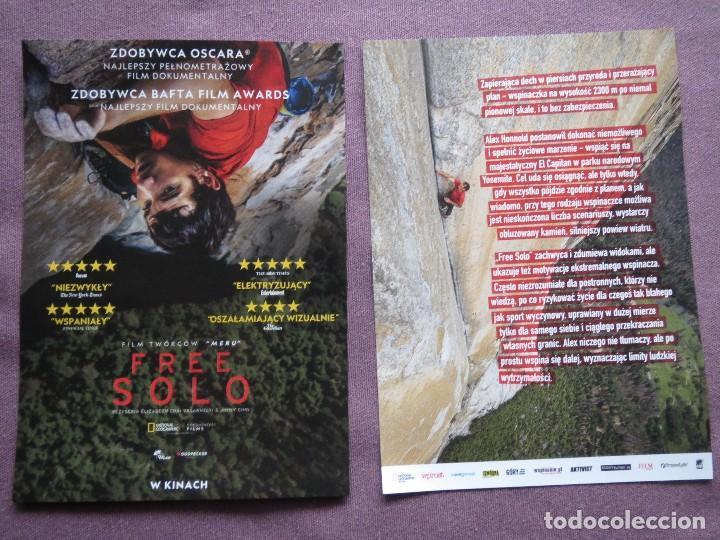 FREE SOLO (Cine - Folletos de Mano - Documentales)