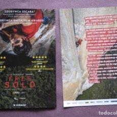 Flyers Publicitaires de films Anciens: FREE SOLO. Lote 160676326