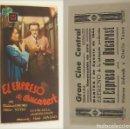 Cine: PROGRAMA DE CINE EL EXPRESO DE BUCAREST PUBLICIDAD GRAN CINE CENTRAL 1944 ORIGINAL. Lote 160710394