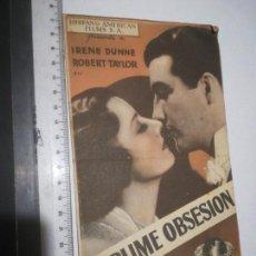 Cine: PROGRAMA DOBLE SUBLIME OBSESIÓN CON PUBLICIDAD CINE A NOU (24P). Lote 160744606