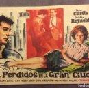 Cine: FOLLETO DE MANO PERDIDOS EN LA GRAN CIUDAD. PUBLICIDAD CINE UNION- CASINO MASNOU. Lote 160767614