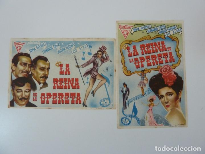 PROGRAMAS DE CINE. LA REINA DE LA OPERETA. S/P (Cine - Folletos de Mano - Musicales)