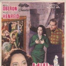 Cine: IDILIO EN EL CASTILLO CON MERLE OBERON, PAUL HENREID AÑO 1951 EN CINEMA RECREO. Lote 161200870