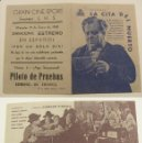 Cine: PROGRAMA DE CINE DOBLE LA CITA DEL MUERTO PUBLICIDAD GRAN CINE SPORT 1940 ORIGINAL . Lote 161218022