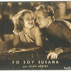 Cine: PROGRAMA DE CINE YO SOY SUSANA LILIAN HARVEY Y GENE RAYMOND. FOX. TEATRO PRINCIPAL .. Lote 161268990