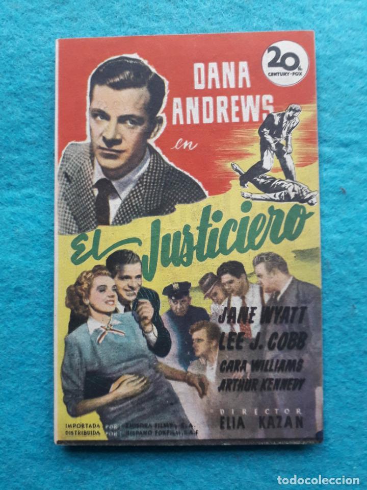 EL JUSTICIERO. DANA ANDREWS, JANE WYATT, LEE J. COBB... AÑO 1948. (Cine - Folletos de Mano - Acción)