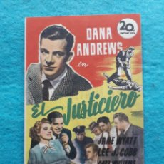 Cine: EL JUSTICIERO. DANA ANDREWS, JANE WYATT, LEE J. COBB... AÑO 1948.. Lote 161272930