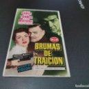 Cine: PROGRAMA DE MANO ORIG - BRUMAS DE TRAICION - SIN CINE . Lote 161309994