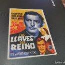 Cine: PROGRAMA DE MANO ORIG - LAS LLAVES DEL REINO - CINE DE INCA. Lote 161310534