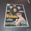 Cine: PROGRAMA DE MANO ORIG - LA VIVIDORA- SIN CINE D. Lote 161310698