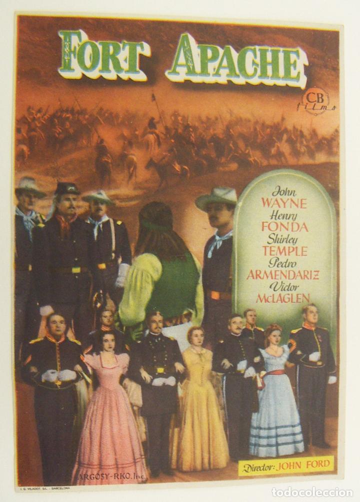 PROGRAMA DE CINE FORT APACHE SIN PUBLICIDAD ORIGINAL (Cine - Folletos de Mano - Westerns)