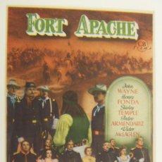 Cine: PROGRAMA DE CINE FORT APACHE SIN PUBLICIDAD ORIGINAL. Lote 161384686