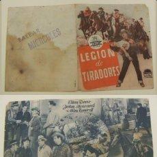 Cine: PROGRAMA DE CINE DOBLE LEGION DE TRAIDORES SIN PUBLICIDAD ORIGINAL. Lote 161391026