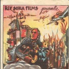Cine: PROGRAMA DE CINE - ATAQUE A ROUEN - 1944 - SIN PUBLICIDAD.. Lote 161431134