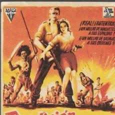 Cine: PROGRAMA DE CINE - RENDICIÓN ... ¡JAMÁS! - KEITH ANDES, SUSAN CABOT - RADIO FILMS - 1959 - S/P.. Lote 161441674