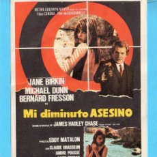 Cine: FOLLETO DE MANO DE MI DIMINUTO ASESINO SIN PUBLICIDAD . Lote 161467242