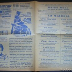 Cine: PROGRAMA DE MANO. EL HALCON SOLITARIO, LA VIACCIA, ESA MUJER, ROMA COMO CHICAGO. IGUALADA, 1970. Lote 161566658